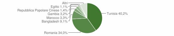 Grafico cittadinanza stranieri - Petrosino 2019