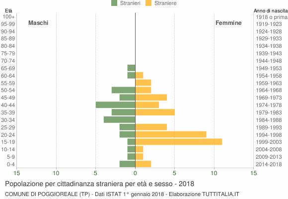 Grafico cittadini stranieri - Poggioreale 2018