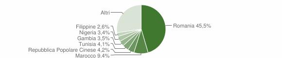 Grafico cittadinanza stranieri - 2018