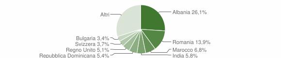 Grafico cittadinanza stranieri - Palaia 2018