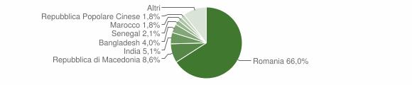 Grafico cittadinanza stranieri - Bibbiena 2019