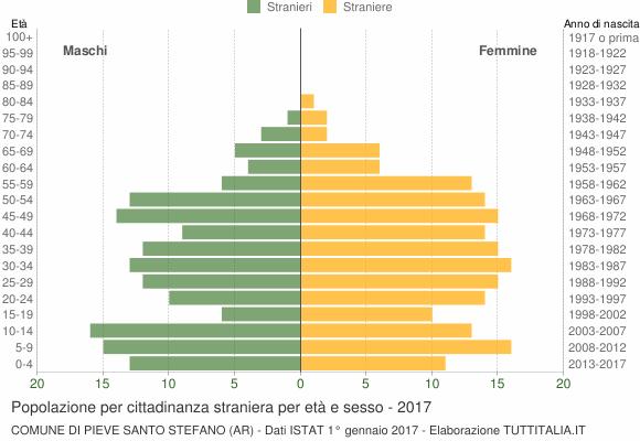 Grafico cittadini stranieri - Pieve Santo Stefano 2017