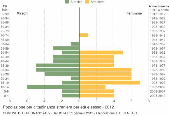 Grafico cittadini stranieri - Chitignano 2012