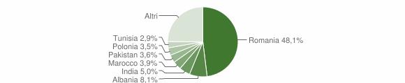 Grafico cittadinanza stranieri - Monte San Savino 2019
