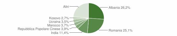Grafico cittadinanza stranieri - San Giovanni Valdarno 2019