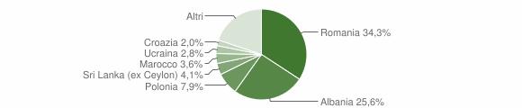 Grafico cittadinanza stranieri - San Marcello Piteglio 2012