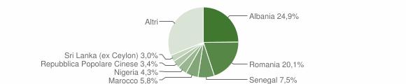 Grafico cittadinanza stranieri - Certaldo 2018