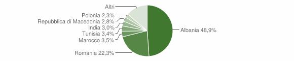 Grafico cittadinanza stranieri - Dicomano 2012
