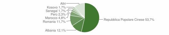Grafico cittadinanza stranieri - Campi Bisenzio 2016