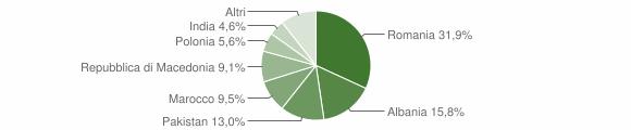 Grafico cittadinanza stranieri - Laterina 2013