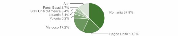 Grafico cittadinanza stranieri - Villa Collemandina 2012