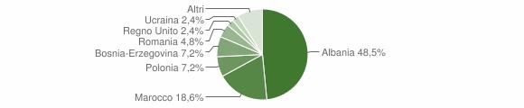 Grafico cittadinanza stranieri - Marradi 2010
