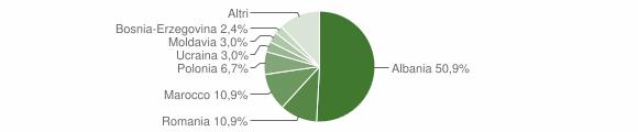 Grafico cittadinanza stranieri - Marradi 2016