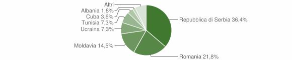 Grafico cittadinanza stranieri - Ronzo-Chienis 2013