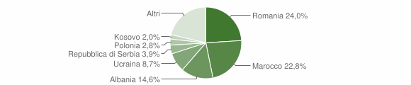 Grafico cittadinanza stranieri - Brentonico 2009
