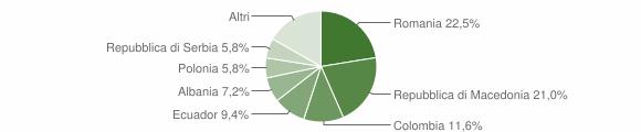 Grafico cittadinanza stranieri - Spiazzo 2010