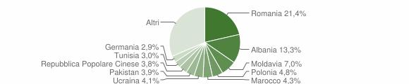 Grafico cittadinanza stranieri - Arco 2019