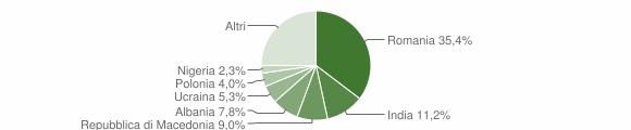 Grafico cittadinanza stranieri - Narni 2019