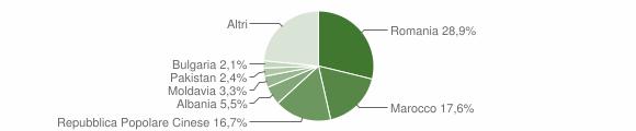 Grafico cittadinanza stranieri - Citerna 2011