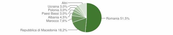 Grafico cittadinanza stranieri - Sellano 2018