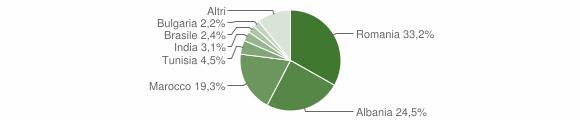 Grafico cittadinanza stranieri - Nocera Umbra 2013