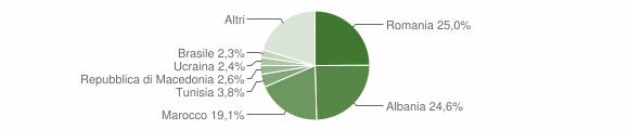 Grafico cittadinanza stranieri - Nocera Umbra 2019