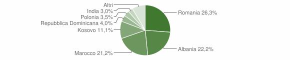 Grafico cittadinanza stranieri - Valtopina 2013
