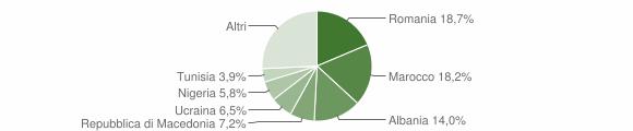 Grafico cittadinanza stranieri - Gualdo Tadino 2018