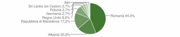 Grafico cittadinanza stranieri - Preci 2018