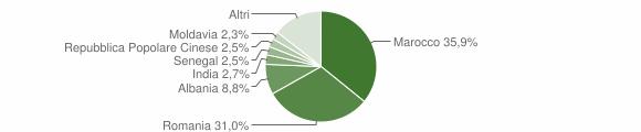 Grafico cittadinanza stranieri - Ronco all'Adige 2019