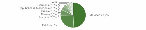 Grafico cittadinanza stranieri - Vestenanova 2018