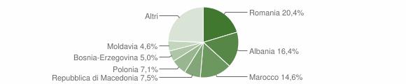 Grafico cittadinanza stranieri - Cinto Caomaggiore 2019
