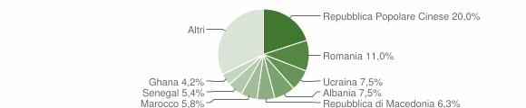 Grafico cittadinanza stranieri - Conegliano 2019