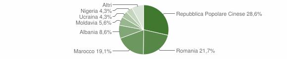 Grafico cittadinanza stranieri - Bagnoli di Sopra 2015