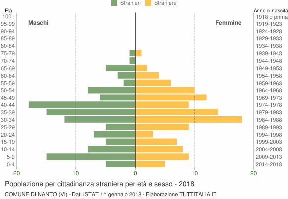 Grafico cittadini stranieri - Nanto 2018