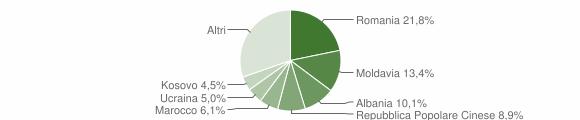 Grafico cittadinanza stranieri - Martellago 2019