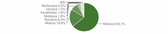 Grafico cittadinanza stranieri - Megliadino San Vitale 2016