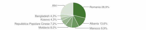 Grafico cittadinanza stranieri - Noale 2018