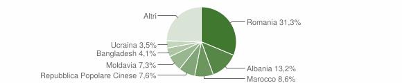 Grafico cittadinanza stranieri - Noale 2019