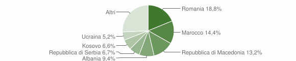 Grafico cittadinanza stranieri - San Stino di Livenza 2019