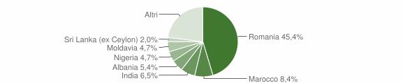 Grafico cittadinanza stranieri - Buttapietra 2019