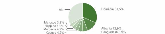 Grafico cittadinanza stranieri - Cavallino-Treporti 2019