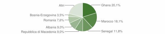 Grafico cittadinanza stranieri - Valstagna 2007