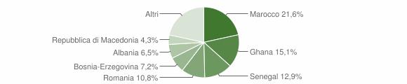 Grafico cittadinanza stranieri - Valstagna 2009