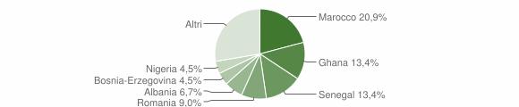 Grafico cittadinanza stranieri - Valstagna 2010