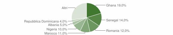 Grafico cittadinanza stranieri - Valstagna 2013