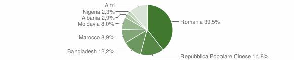 Grafico cittadinanza stranieri - Vigonovo 2019