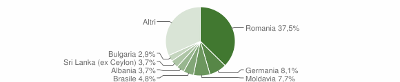 Grafico cittadinanza stranieri - Bardolino 2019