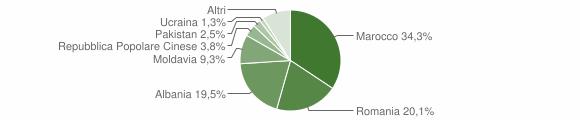 Grafico cittadinanza stranieri - Solesino 2015