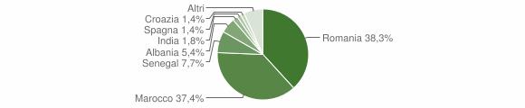Grafico cittadinanza stranieri - Bonavigo 2019